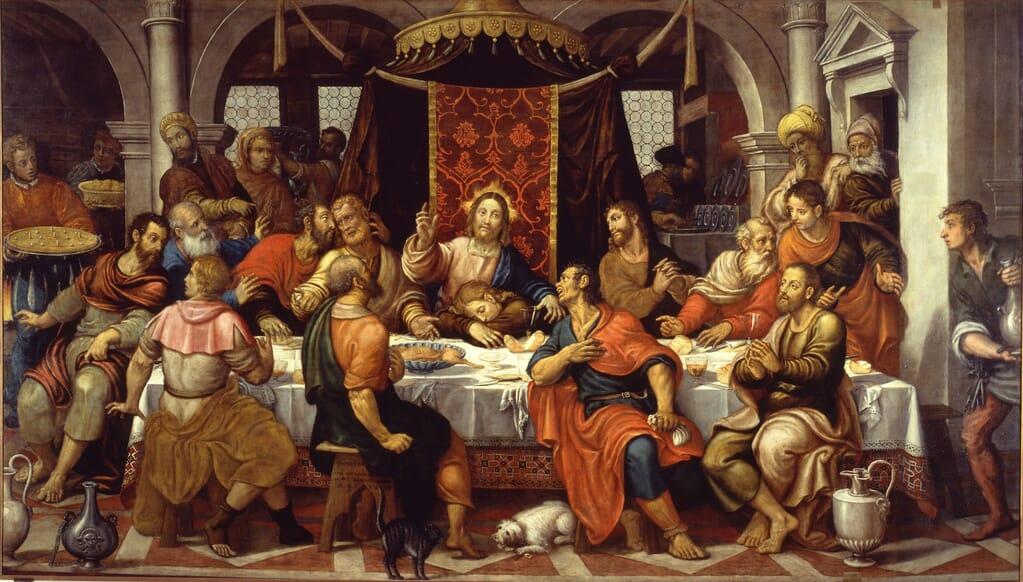 ultima cena pomponio amalteo